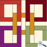 Keltský čtverec - prolínání