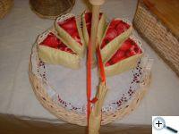Patchworkové dortíčky na tácku