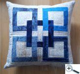 Keltský čtverec - modrý polštář
