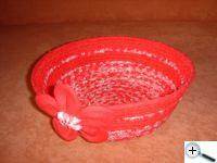 Košíček červený