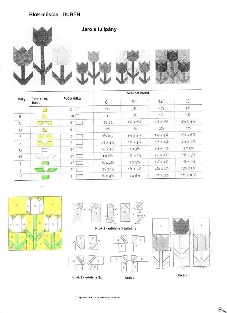 """Jaro s tulipány 12"""" x 12"""""""