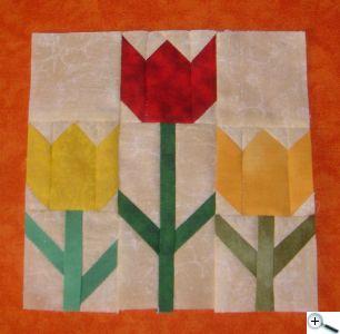 """Tulipány 12"""" x 12 """""""