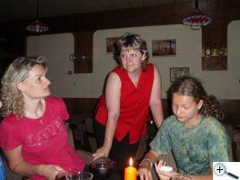 Hanka cvičitelka s námi v baru