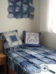 Džínová deka a polštář - rag quilt