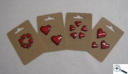 Srdce - keramika na dozdobení