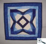 Šití na papír - obrázek modře-modrý