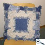 Rag quilt - polštář