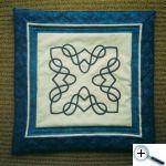 Keltské aplikace - polštář