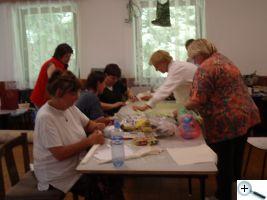 Příprava skládané batiky