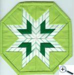 Překládaná hvězda - zelená variace