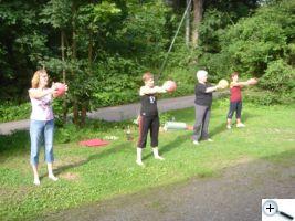 Cvičení venku