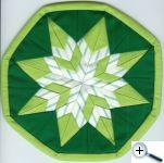 Překládaná hvězda - zelená variace II.
