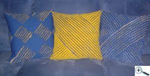 Žinylka - polštáře (bavlna se lnem)